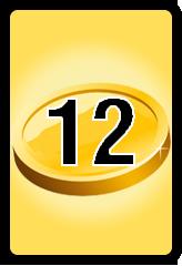 Wheel of Cash raffle Bonus board- number 12