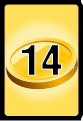 Wheel of Cash raffle Bonus board- number 14