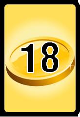 Wheel of Cash raffle Bonus board- number 18