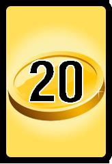 Wheel of Cash raffle Bonus board- number 20