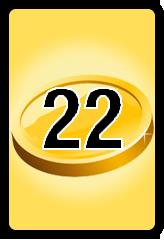 Wheel of Cash raffle Bonus board- number 22
