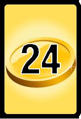 Wheel of Cash raffle Bonus board- number 24