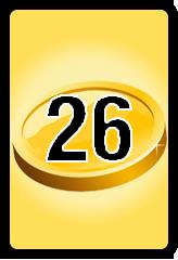 Wheel of Cash raffle Bonus board- number 26