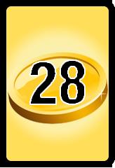 Wheel of Cash raffle Bonus board- number 28