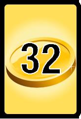 Wheel of Cash raffle Bonus board- number 32