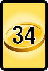 Wheel of Cash raffle Bonus board- number 34