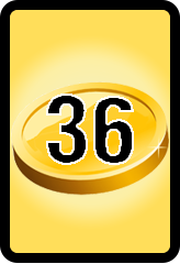 Wheel of Cash raffle Bonus board- number 36