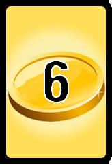 Wheel of Cash raffle Bonus board- number 6