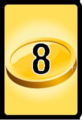 Wheel of Cash raffle Bonus board- number 8