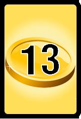 Wheel of Cash raffle Bonus board- number 13