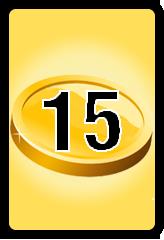 Wheel of Cash raffle Bonus board- number 15