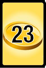 Wheel of Cash raffle Bonus board- number 23