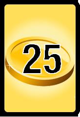 Wheel of Cash raffle Bonus board- number 25