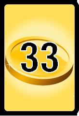 Wheel of Cash raffle Bonus board- number 33