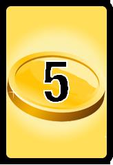 Wheel of Cash raffle Bonus board- number 5