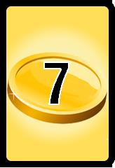 Wheel of Cash raffle Bonus board- number 7
