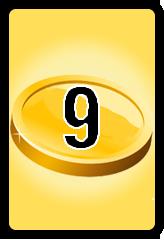 Wheel of Cash raffle Bonus board- number 9